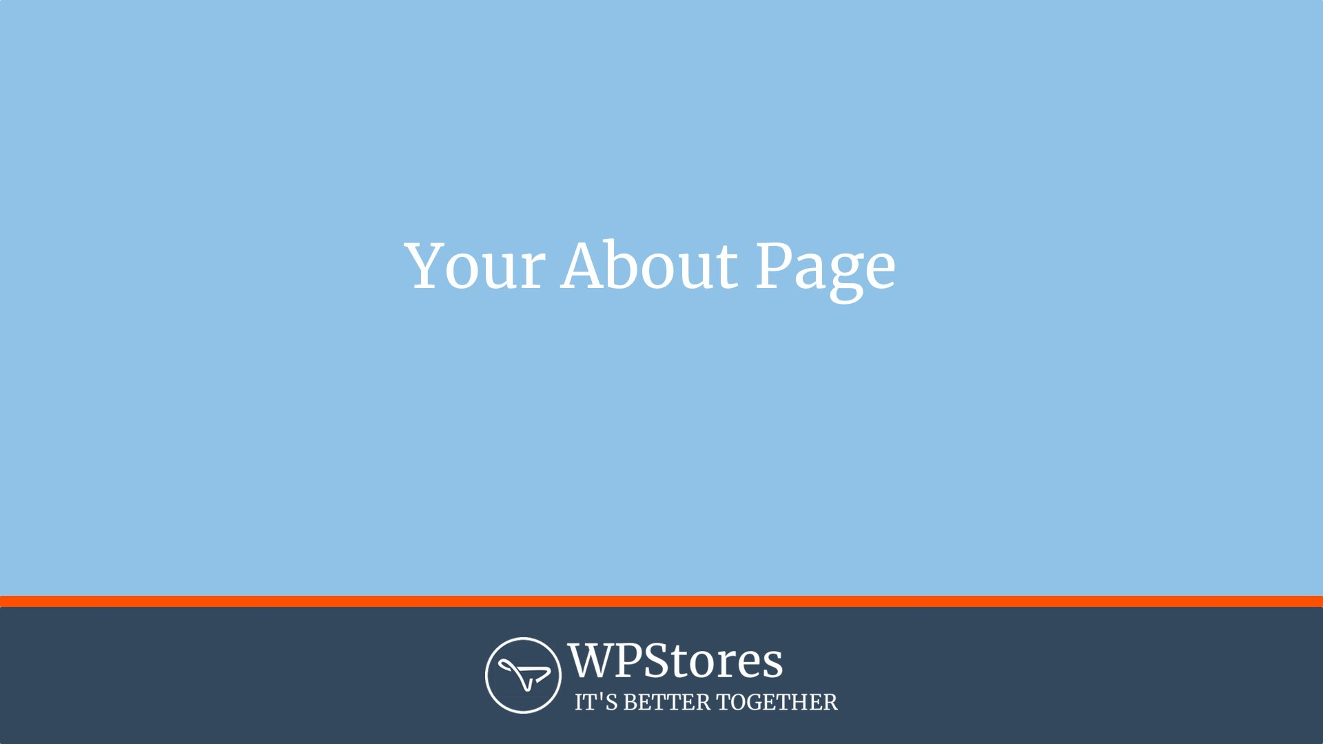 How to design your about page for your WordPress website