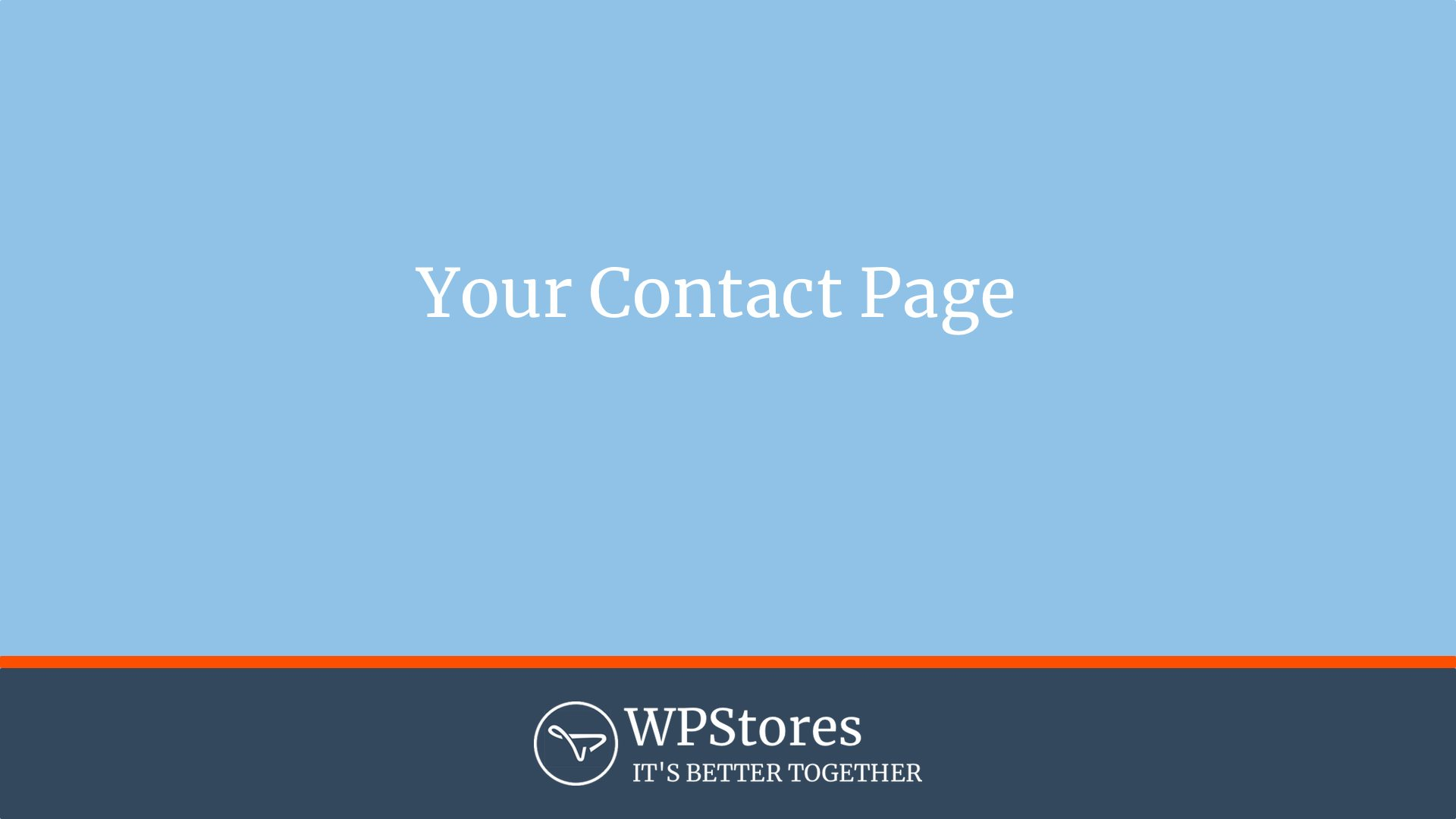 Putting a contact form on your website