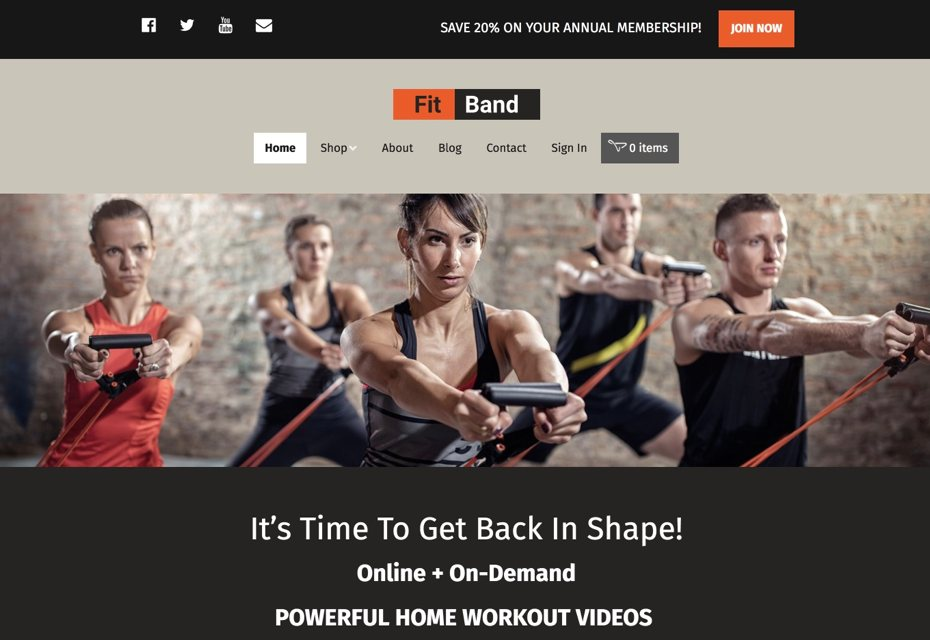 Website for personal trainers